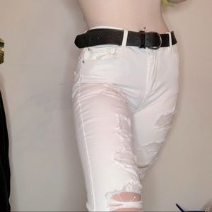 Women's White Ripped Jeans